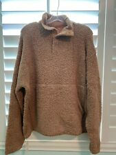 SKIMS Cozy Knit Pullover in Camel color