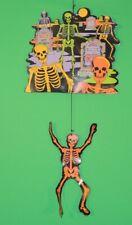 Vintage Skeleton / Skull Amscan Die Cut Halloween Hanging Decor / Decoration