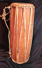 Vintage Native American Drum, handmade, wood and leather, 20 x 5.5 inches