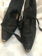 Antique Black Silk Shoes Heels 1910 B. Lowenstein & Brothers Inc.