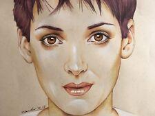 Winona Ryder DESSIN ORIGINAL. Fan-art