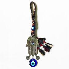 Turkish Blue Evil Eye Hamsa Hand Amulet Wall Hanging Decor Protection Lucky #1