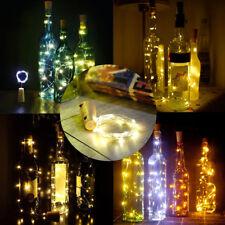 1/2/4/6/10pcs 2M 20LED Cork Shape Starry Fairy Light Wine Bottle Night Lamp Xmas