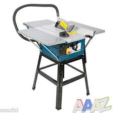 "TABLE SAW WITH POWERFUL 1600w MOTOR 10"" BLADE WITH EXTENSIONS SILVERLINE"