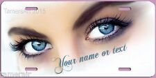 BEAUTIFUL FEMALE BLUE EYES  LICENSE PLATE, can be Personalized