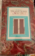 One Traditions By Waverly Navarra Crimson Floral Window Curtain Panel NEW 84L