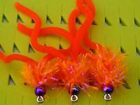 New X 3 🌈 Bead UV Sunburst Size 10 Squirmy Trout Flies, Lures, & Flies.