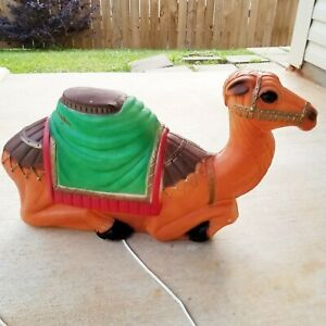 Vintage Empire Camel Blow Mold Light Up Christmas Nativity #2