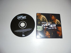 Single CD Spektrum Kinda New We all Live and Die 5.Track Tiefschwarz Mixes SO 12