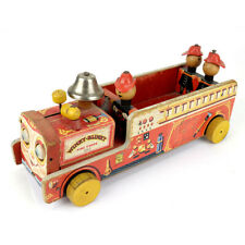 Vintage Fisher Price Toys #200 Winky-Blinky Fire Truck Pull Toy