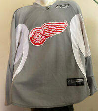 NHL Detroit Red Wings Authentic Game Used Practice Jersey Size 58+ Gray #6