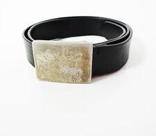 Joseph Abboud Vintage Italian Designer Men Leather Belt Black Size 34