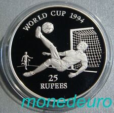SEYCHELLES 1993 25 RUPIAS PLATA  PROOF 31,47 g. KM#67 MUNDIAL FUTBOL
