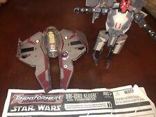 TRANSFORMERS STAR WARS Darth Maul +Obi-Wan Kenobi LOOSE Lot Combo RARE!!