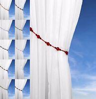 Crystal Bead Rope Tie Backs SALE Beaded Tieback Sold in Pairs