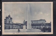 Cartolina Lugo Piazza XX Settembre e Monumento a Francesco Baracca AF104