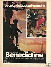 1972 Print Ad of Benedictine After Coffee Liquor Julius Wile La Grande Liqueur