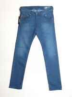 Diesel BELTHER 0686A Reg Slim Tapered W32 L32 Mens Blue Stretch Denim Jeans