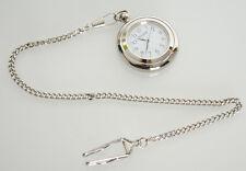 Montre de poche Hilser avec chaîne en métal couleur argent - montre à gousset