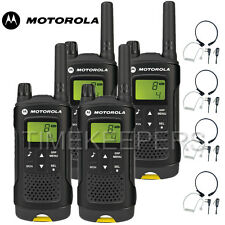 8 KM Motorola XT180 WALKIE TALKIE DUE VIE PMR 446 Radio Quad + 4 MICROFONI GOLA