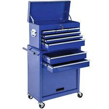 Chariot à outils servante d'atelier caisse coffre malle rangement amovible bleu