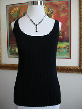 Cable & Gauge Women's Sleeveless Black Knit Top Size M Never Worn!