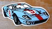 Ford GT40 Gulf Racing / Motorsport Sticker Decal