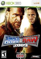 WWE SmackDown vs. Raw 2009 Featuring ECW (Microsoft Xbox 360, 2008) -...