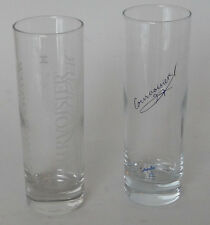 "(2) Courvoisier Cognac 6.0"" Tall Tumbler/Glass 1 Durobor Belgium 1 Spain"