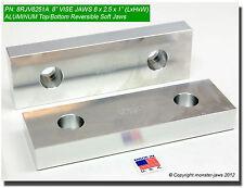 """8 x 2.5 x 1 (8"""" VISE JAWS) Aluminum Reversible Fits Kurt Large Vice (8RJV8251A)"""