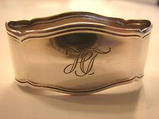 ovaler Serviettenring, ''HT'',  800er Silber, Chippendale