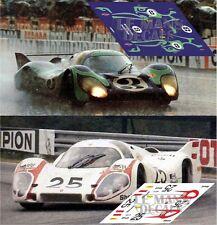 Calcas Porsche 917 LH Le Mans 1970 3 25 1:32 1:24 1:43 1:18 slot decals