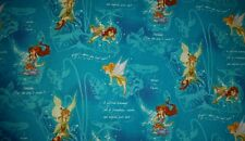 LINED VALANCE 42X15 TINKERBELL FAIRY FREINDS SECRET FAIRIES BELIEVE IN MAGIC