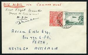 19 Feb.1930 (AAMC.152a) Brunette Downs - Camooweal flown cover carried by A.A.S.
