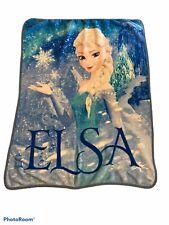 DISNEY FROZEN Soft Fleece ELSA throw blanket EXCELLENT
