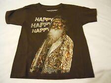 Boys Tee Shirt Sz XS 4/5 By Duck Dynasty Kids Brown Happy Happy Happy