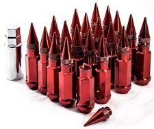 "Red 20"" 12X1.25 Aodhan XT92 SPIKED Lug Nuts FIT STR ESR MRR ROTA BBS VMR F1R"