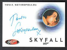 JAMES BOND 2013 AUTOGRAPHS & RELICS AUTOGRAPH CARD #A240 TONIA SOTIROPOULOU