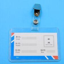 10pcs Metal ID Badge Lanyard Key Card Holder Badge Name Tag Lanyard Clip
