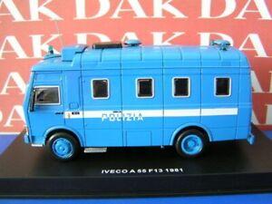 Die cast 1/43 Modellino Furgone Polizia Police Iveco A55 F13 1981