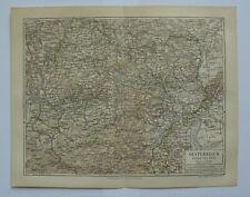 Österreich unter der Enns historische Landkarte um das Jahr 1890