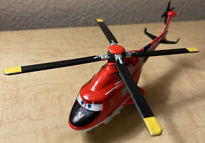 "DISNEY Pixar PISTON PEAK Helicopter 9"" Planes Rescue Group Bright Red Fun Toy"