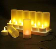 12pcs Pack Led Rechargeable Flameless Tea Light Dinner Table Candles Room Decor