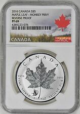 Canada 2016 S$5 Silver Maple Leaf Monkey Privy NGC PF69 Canadian Bullion Coin