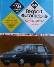 Revue technique AUSTIN MINI METRO RTA EXPERT 258 1988
