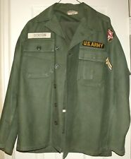 Vintage 1950s 6th Army Utility Fatigue Shirt & Pants with Badge & Stripes, Og107