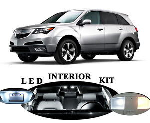 LED Package - Interior + License Plate + Vanity + Reverse for Acura MDX (19 pcs)