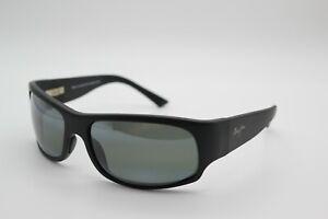 Maui Jim MJ 222 2M Longboard Matte Black Sunglasses Gray Polarized Made Japan