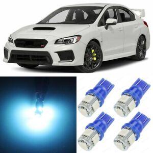 10 x ICE BLUE Interior LED Lights Package For 2015 - 2019 Subaru WRX STI +TOOL