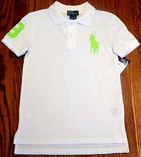 POLO RALPH LAUREN AUTHENTIC BOYS BRAND NEW WHITE DRESS T-SHIRT TOP Size 7T, NWT
